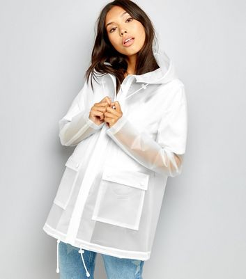 Tall - Anorak blanc transparent