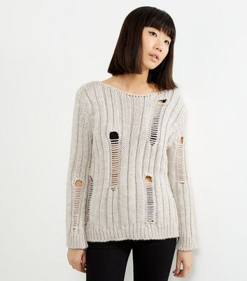 Loving This Cream Ribbed Ladder Knit Jumper