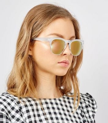 Pink Clear Sunglasses