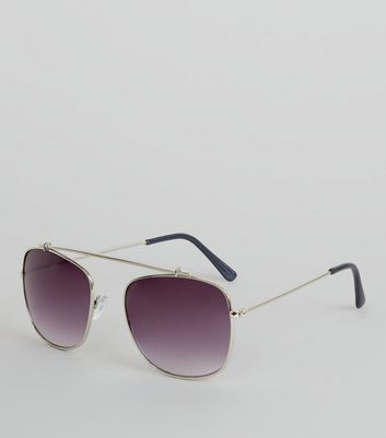 Silver Bridgeless Sunglasses