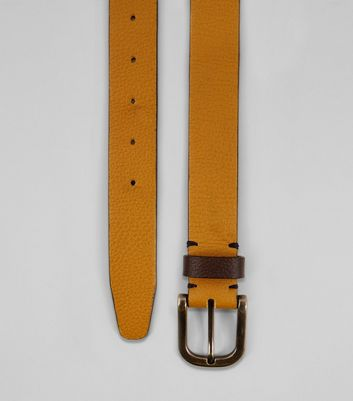 Yellow Leather Belt