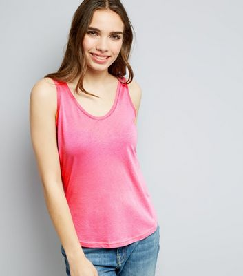 Pink Scoop Neck Vest