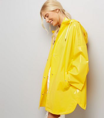 Yellow Oversized Hooded Anorak