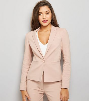 Pink Premium Fitted Suit Jacket