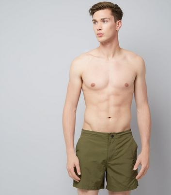 Khaki Utility Swim Shorts
