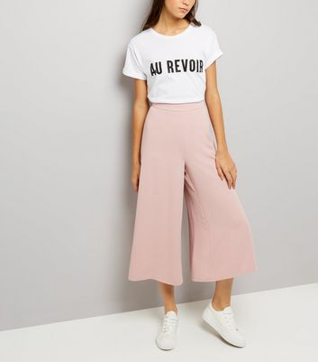 Mid Pink Flared Culottes