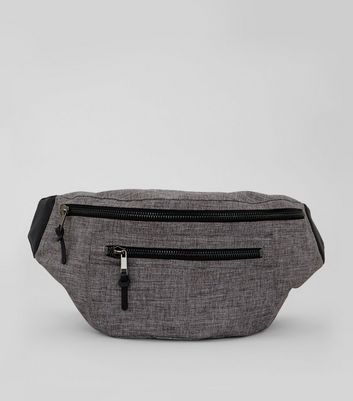 Grey Double Look Cross Body Bag