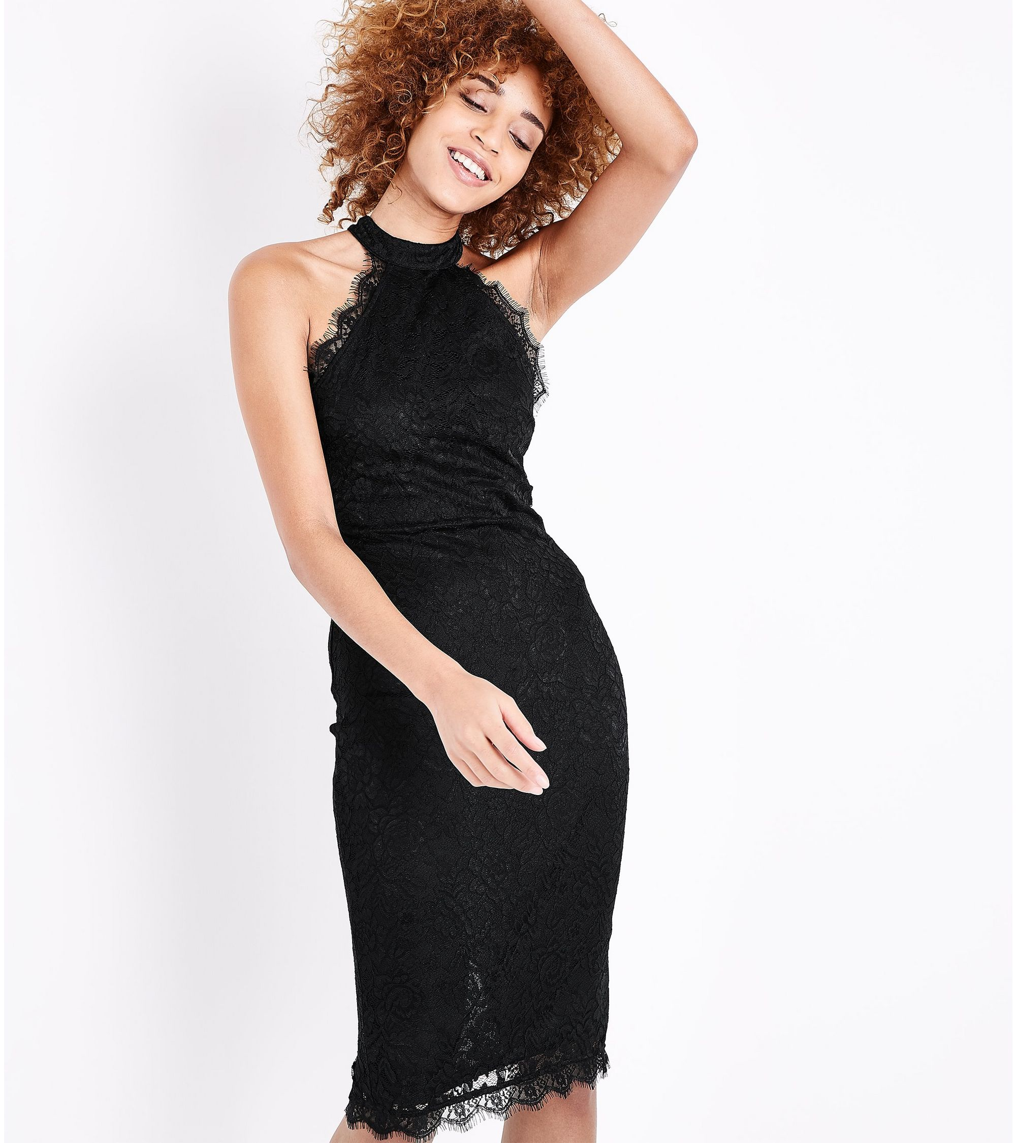 b6ccdb92edb New Look High Neck Black Lace Dress - Gomes Weine AG