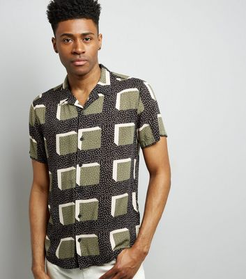 Black Watermelon Print Short Sleeve Shirt