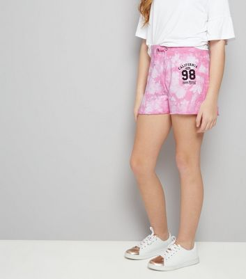 "Teenager – Rosa Batikshorts mit ""California 98""-Aufdruck"