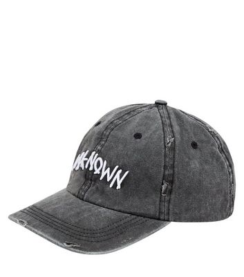 Grey Unknown Embroidered Cap