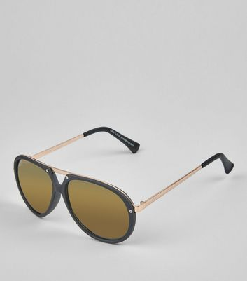 Black T Bar Aviator Sunglasses