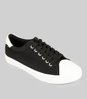 Black Contrast Toe Trainers