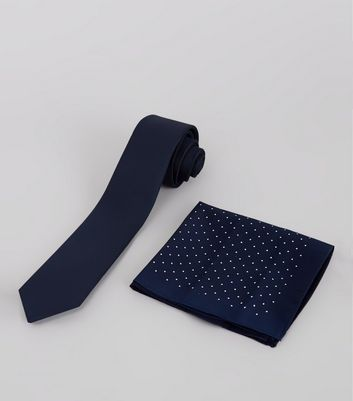 2 Pack Navy Tie and Pin Dot Hanky