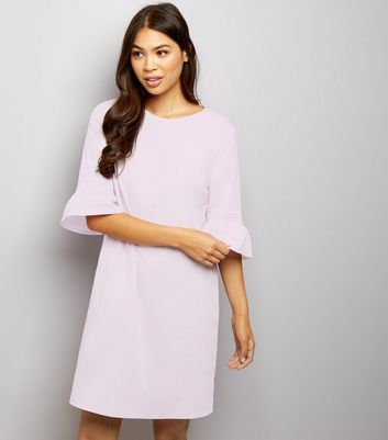 Lilac Bell Sleeve Tunic Dress