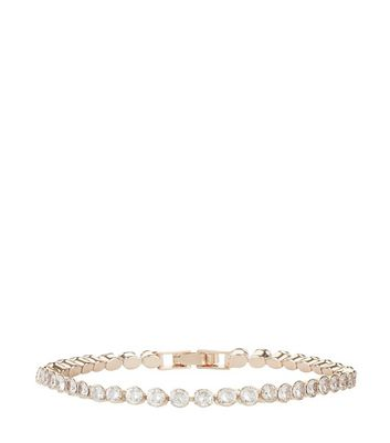 Rose Gold Diamanté Bracelet