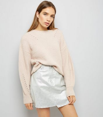 Shell Pink Balloon Sleeve Jumper