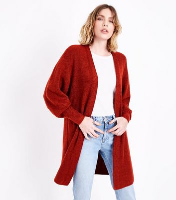 Red Balloon Sleeve Cardigan