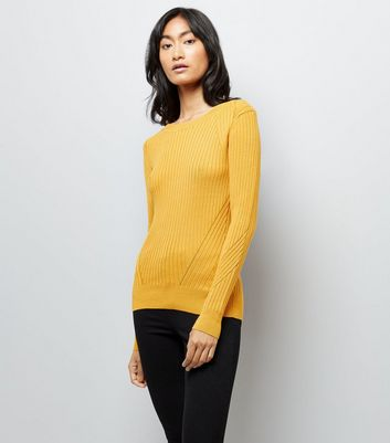 Yellow Ribbed Jumper