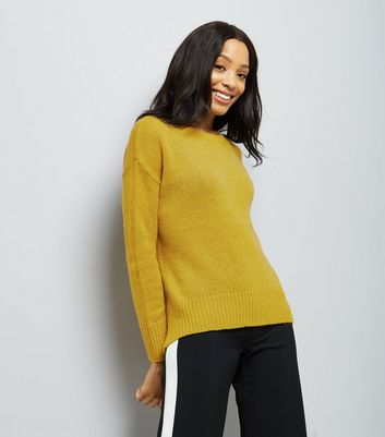 Green Longline Fine Knit Jumper