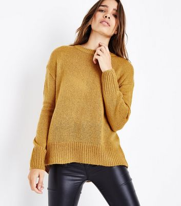Mustard Yellow Longline Jumper