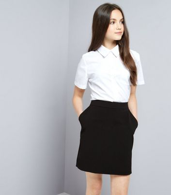 Teens Black Bodycon Skirt
