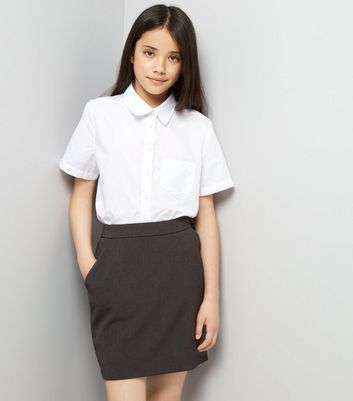 Teens Grey High Waist Skirt