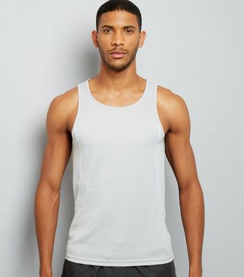 Grey Drop Arm Sports Vest