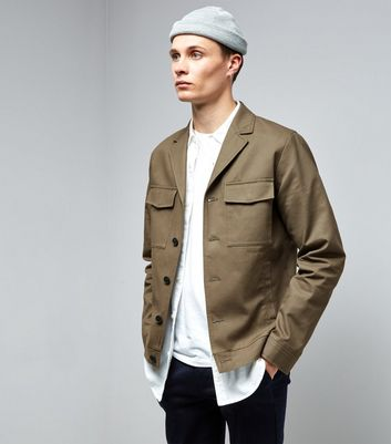 Khaki Double Pocket Tailored Jacket