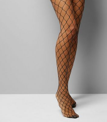 Black Oversized Fishnet Tights
