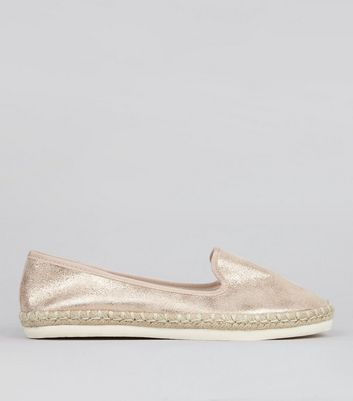 Wide Fit Rose Gold Espadrilles