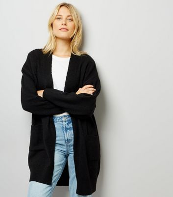 Black Batwing Sleeve Oversized Cardigan