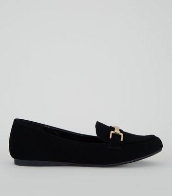 Black Comfort Bar Front Loafers