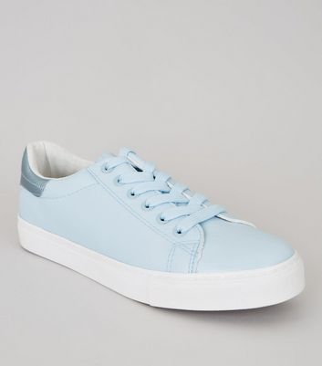 Blue Metallic Trim Trainers