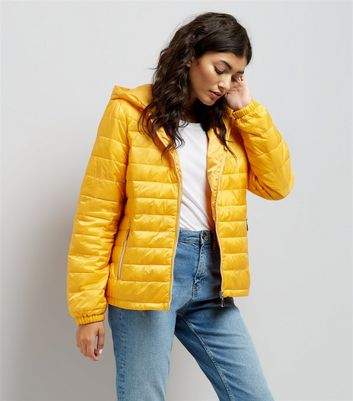 Yellow Lightweight Puffer Jacket
