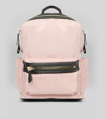 Pink Chunky Zip Backpack
