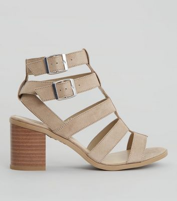 Teens Mink Suedette Multi Strap Sandals