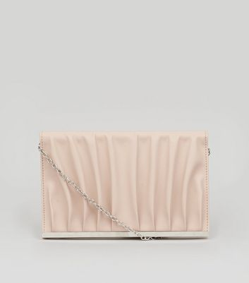 Nude Pink Gathered Clutch