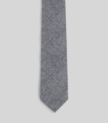 Grey Chambray Tie