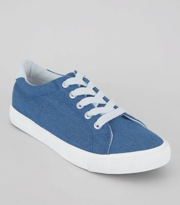 Teens Blue Denim Sneakers
