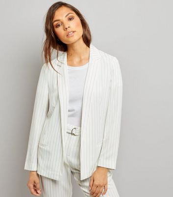 White Pinstripe Jacket