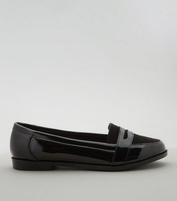 Teens Black Patent Loafers