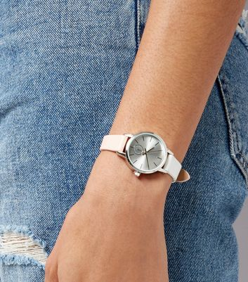 Pink Two Tone Strap Mini Watch