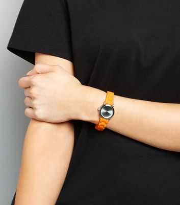 Neon Bright Orange Mini Watch
