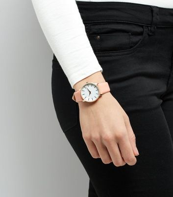 Coral Pink Strap Watch