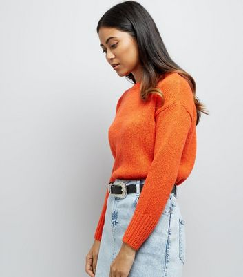 Petite Orange Longline Jumper