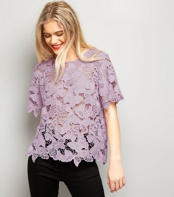 Lilac Butterfly Lace T-Shirt