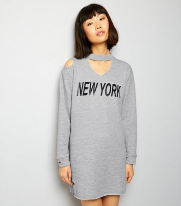 Innocence Grey NYC Cut Out Shoulder Dress