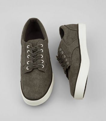 Grey Canvas Trainers