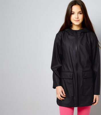 Teens Black Matte Anorak